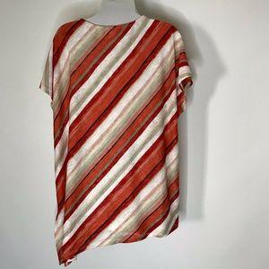 Chico's Tops - Chicos Knit top Shirt Womens 3 asymmetric Hem